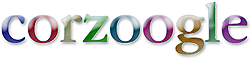 logo for corzoogle;  		fast realtime personal search engine for your home or website, from corz.org